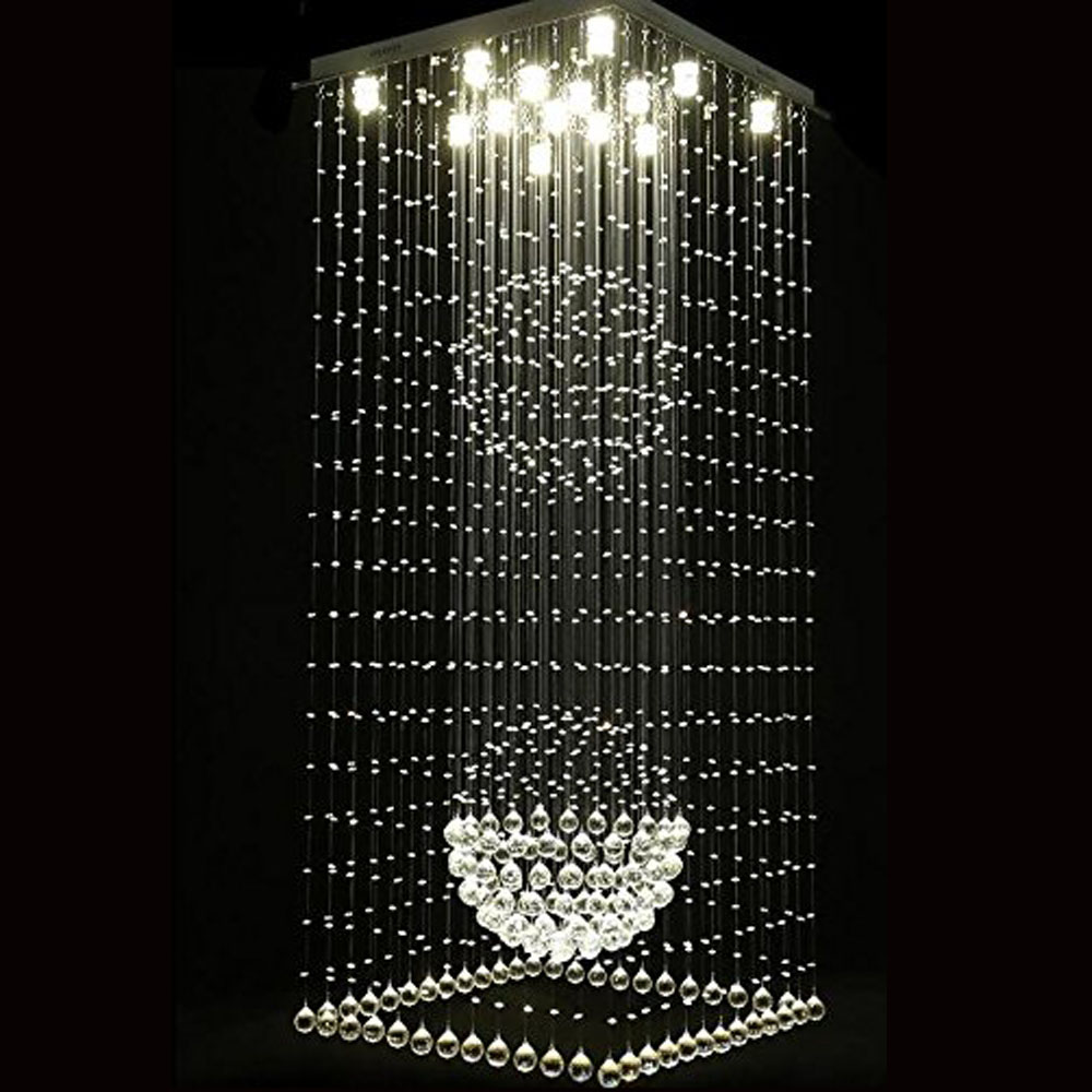 Modern minimalist square living room chandeliers duplex stair chandeliers long crystal chandeliers creative led hanging lightingModern minimalist square living room chandeliers duplex stair chandeliers long crystal chandeliers creative led hanging lighting