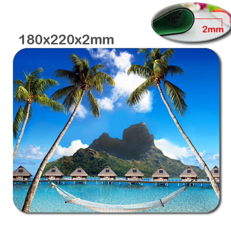Mairuige Mairuige PAD Inches Mouse Pad - Tropical Island Custom Standard Oblong Mouse Pad Gaming Mousepad in 220mm*180mm*2mm