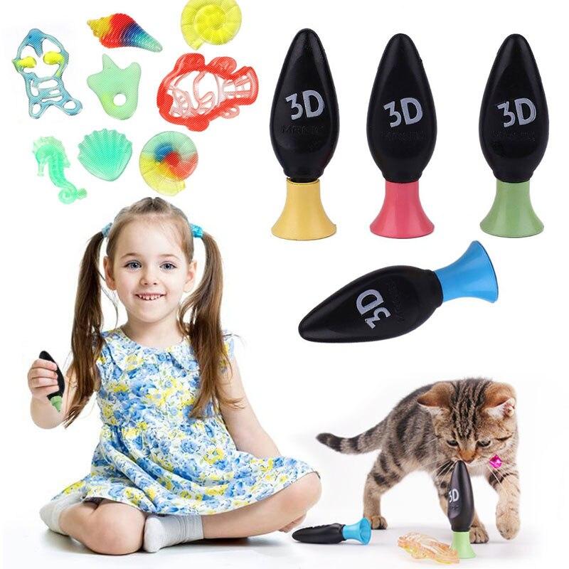 Творческий 4 шт. 3D Волшебная машина детей краски просвещение образовательный рисунок игрушечные лошадки