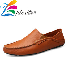 Summer Men Casual Shoes Fashion Men Shoes Leather Men Loafers Holes Moccasins Slip On Breathable Men's Flats Male Driving Shoes цена