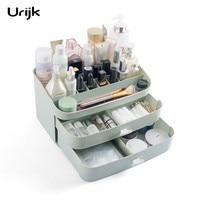 Urijk Home Storage Organization Desk Organizer Plastic Box Brush Makeup Tool Organizer For Cosmetics Storage Box