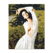 Famous beauty topless Xie Chuyu digital painting Diy  by numbers hand painted picture