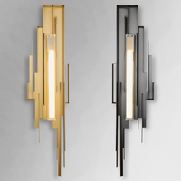 Modern Hotel villa engineering metal Led lamps Nordic creative living room Sconce Wall Lights club model room copper wall lamp
