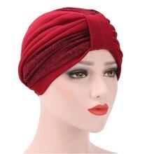 Muslim Hijab Arab Wrap coverings turban patchwork Stretched Turban hat Islamic religious headscarf Muslim wrap Prayer Hats