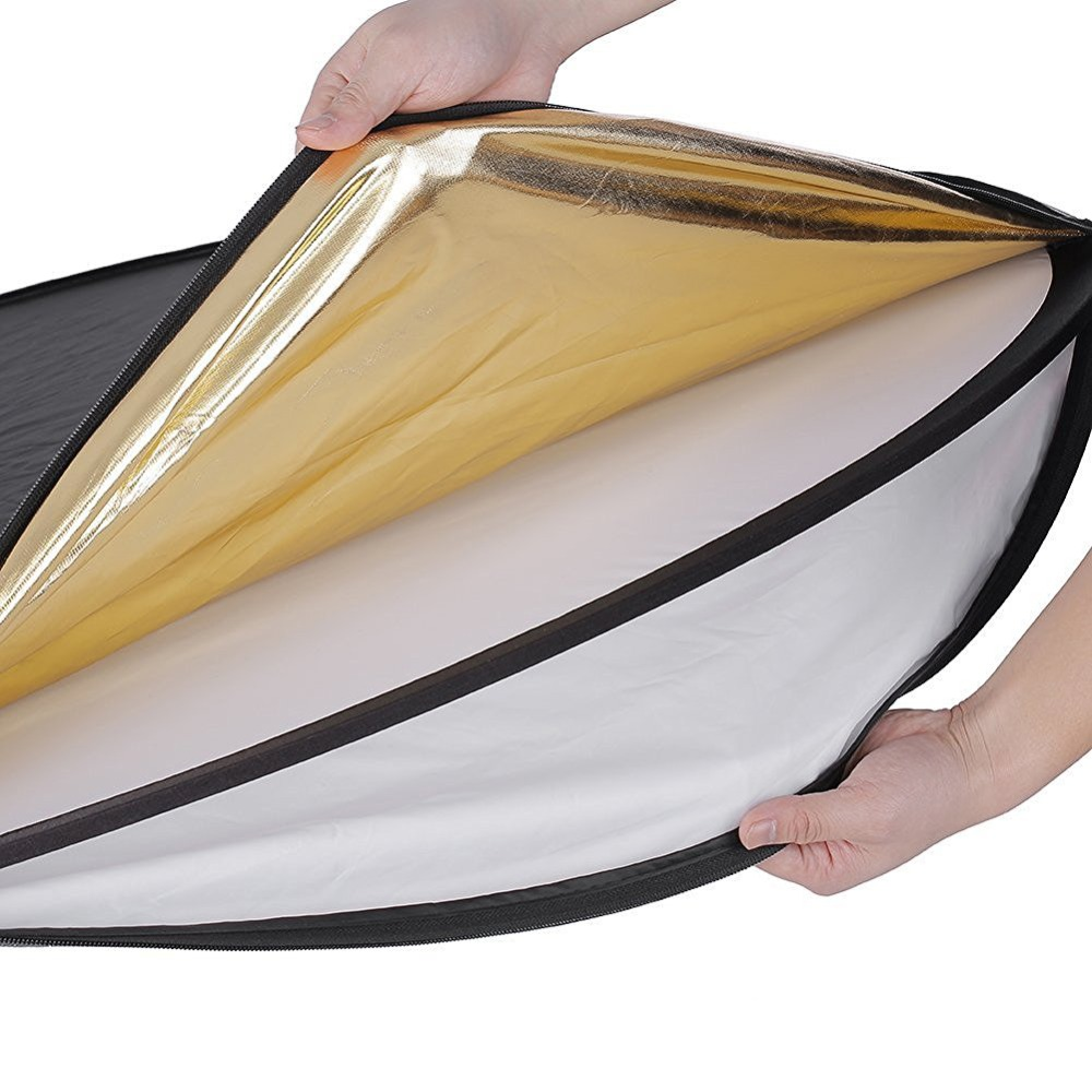 Réflecteur de lumière rond avec photo multi-disque pliable 43In 5 en 1 avec sac pour Studio/ou toute Situation de photographie