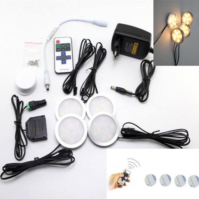 Warmweiß led unter kabinett leuchten downlight 4 lampen kit mit ir ...