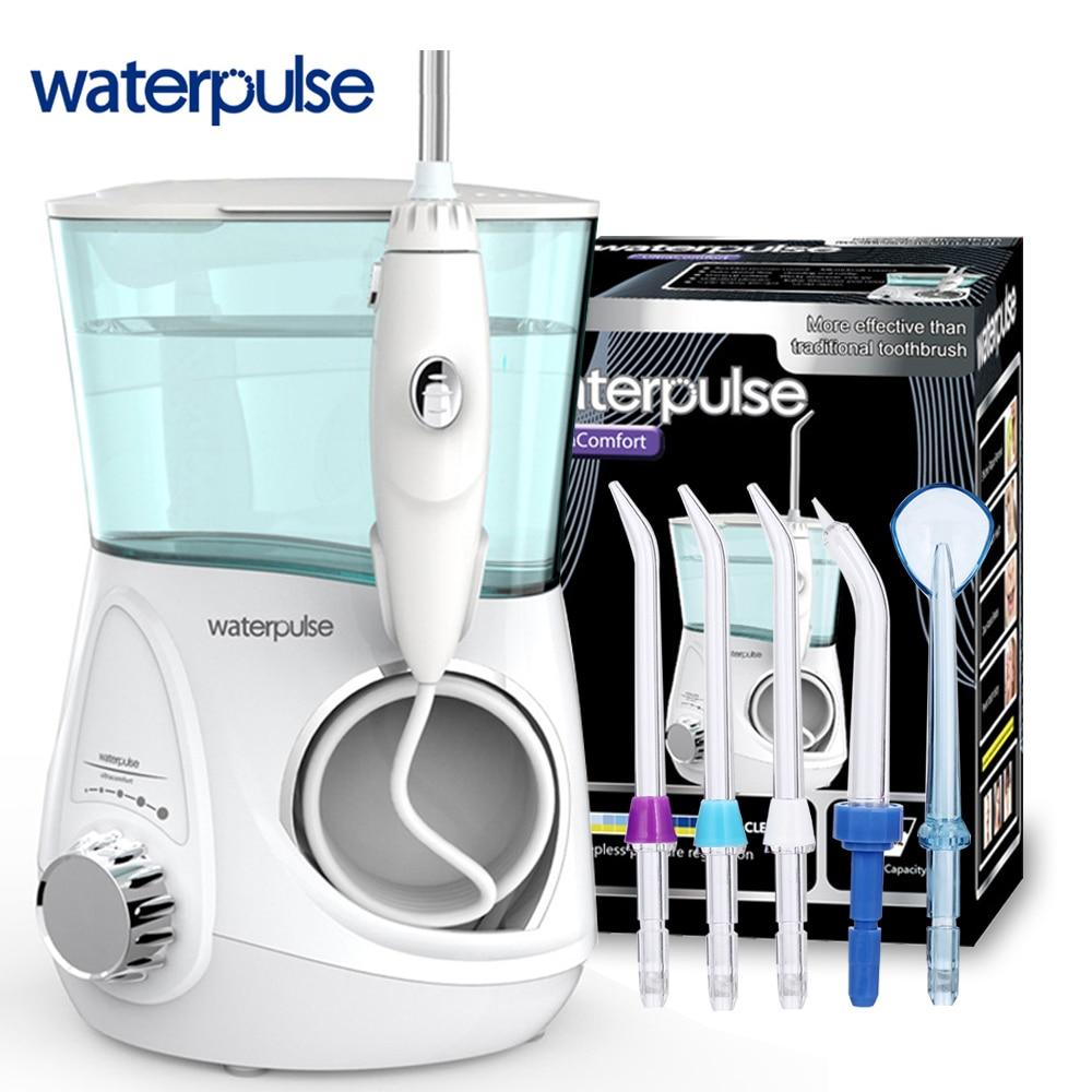 Waterpulse Dentale Acqua Flosser Irrigatore Orale V600 Pulizia dei denti Ricaricabile Pick Acqua Jet Pulizia Dei Denti Con 5 pcs Jet Consigli