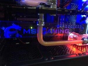 Image 4 - Özel yapılmış akrilik dirsek kullanımı Brace için GPU kartı RGB ışık boyutu 280*45*6mm düzeltme kartı uyumlu AURA sistemi 12V RGB