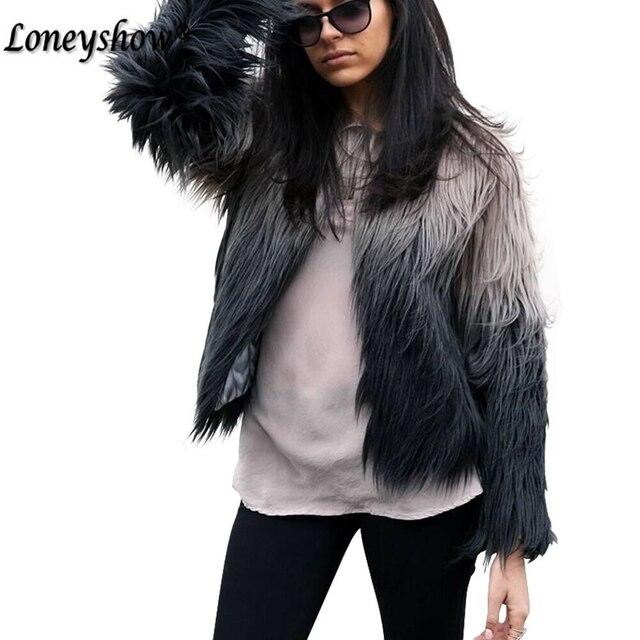 Hair Jacket Fur Coat Women Lady Fur Overcoat Imitation Fur Faux Fox Jackets Hairy Party Fur Warm Coat Plus Size XXXL