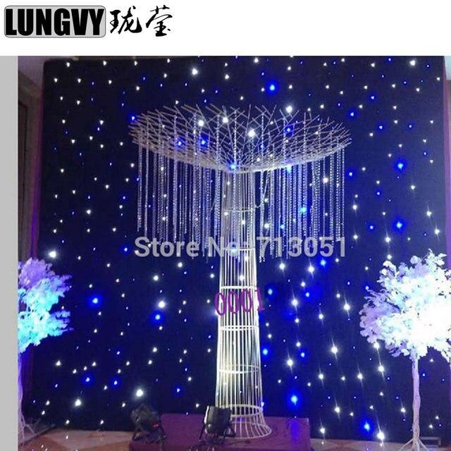Livraison Gratuite 4 m * 6 m LED Rideaux De Scène Bleu Blanc LED ...