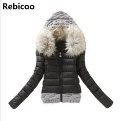 New Arrivals 2018 Winter Jacket Women Fashion Slim Big Fur Collar Warmth Outdoor Casual  Coat warm 2