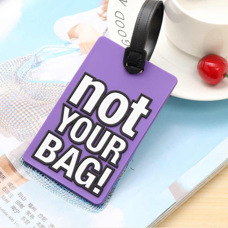 """Kreative Brief """"Nicht Ihre Tasche"""" Nette Reise Zubehör Gepäck Tags Koffer Cartoon Stil Mode Silicon Tragbare Reise Label"""