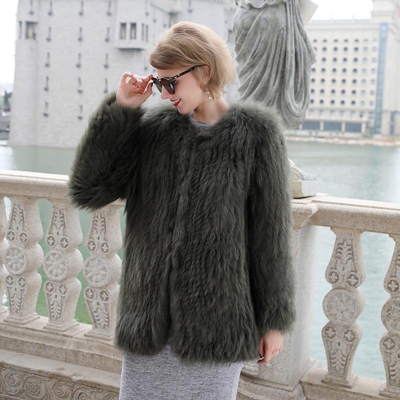 Luxury Women\'s Coat Jackets Real Fox Fur Jackets For Girls Natural Fox Fur Outerwear Female Winter Coats Warm (6)