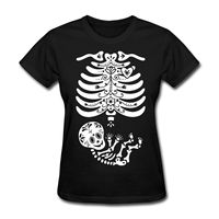 Skeleton X Ray Sugar Skull Baby Women S T Shirt Kawaii Punk Women T Shirt Sexy