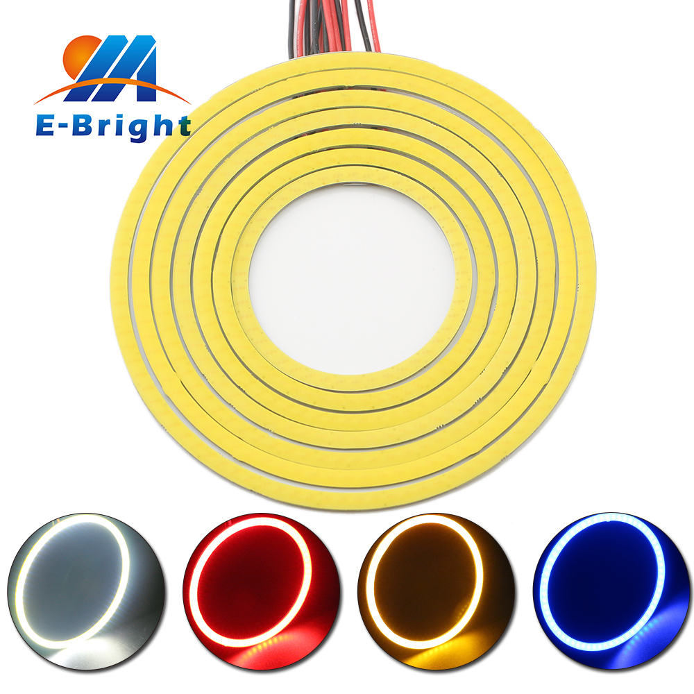 110mm 12v Waterproof Car LED Angel Eyes Headlight Universal Car Halo Rings With Pigtial Automotive LED Lamp Car Super LED Lights