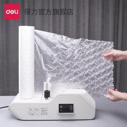 Deli 16440 bolsa de burbujas película transparente logística Express embalaje Anti-caída y Anti-sísmico columna de aire película de embalaje proveedores