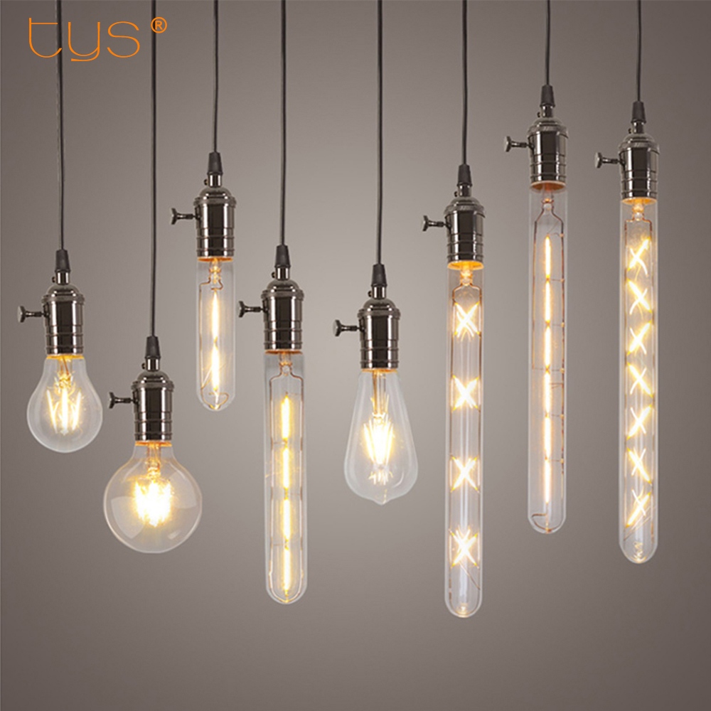 vintage led filament bulb e27 e14 real watt 2w 3w 4w 6w retro antique vintage led edison bulb. Black Bedroom Furniture Sets. Home Design Ideas