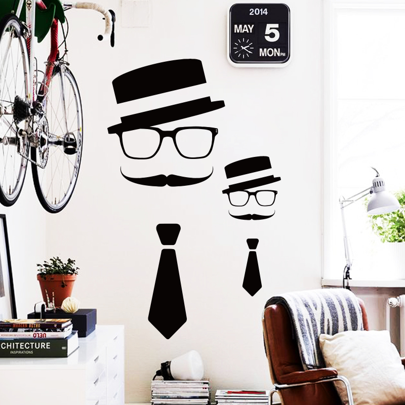Art Design Cheap Home Decoration Vinyl Humorous Mustache Wall Sticker  Waterproof PVC House Decor Cartoon Beard Decal In Bar Shop In Wall Stickers  From Home ...