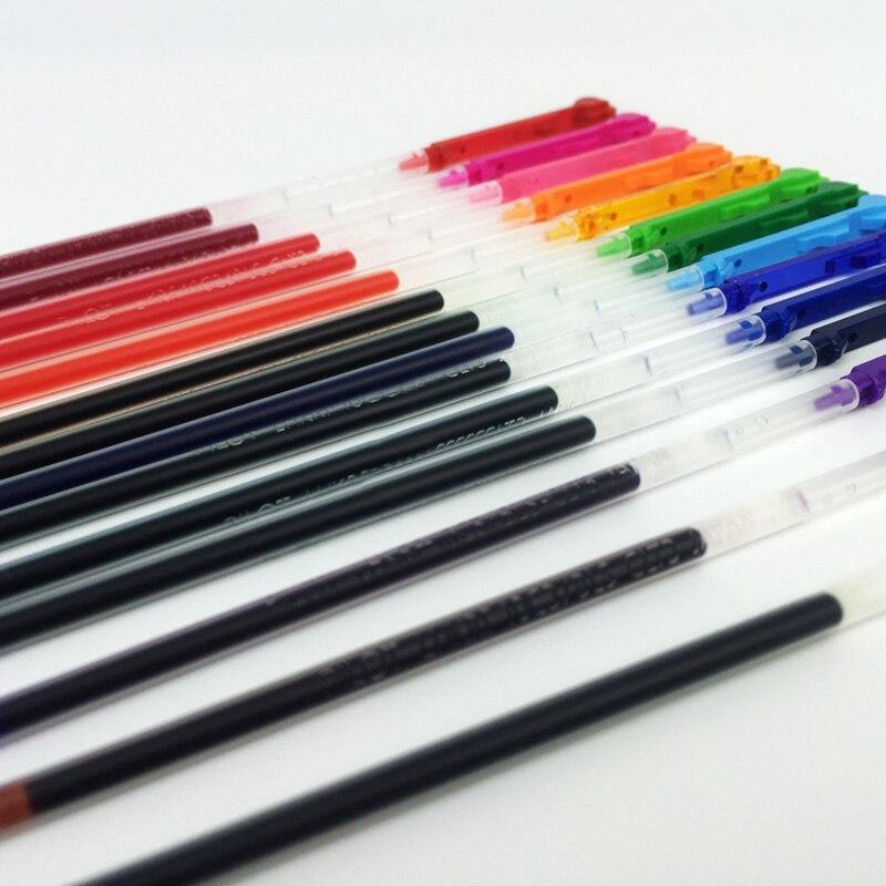caneta refil 04 milimetros preto azul vermelho 15 cores disponiveis 05