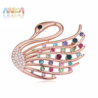 2017 made with Czech Rhinestone Brooch Love Swan Design For Women Sale Gift New Trendy #111738