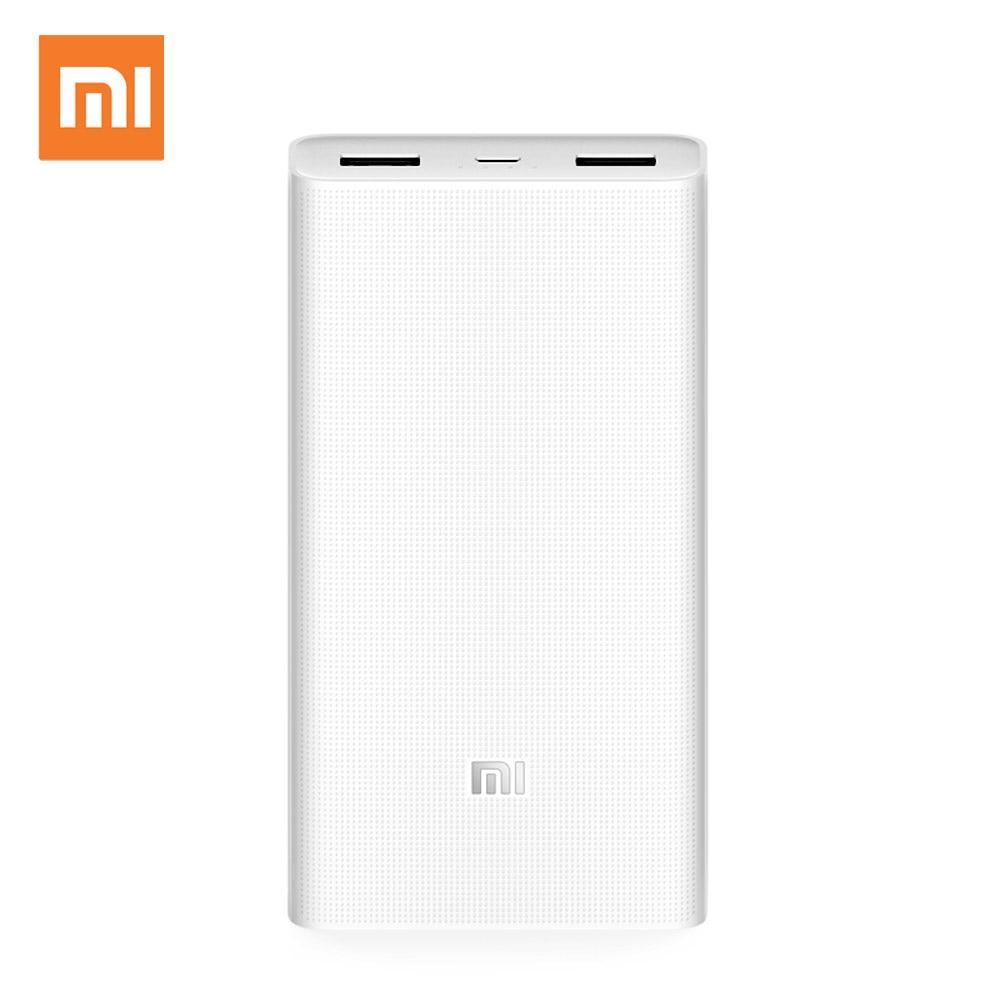 Xiaomi Power Bank 20000mAh 2C Quick Charge 3.0 Dual USB Powerbank Portable External Battery for apple Huawei Samsung Xiaomi