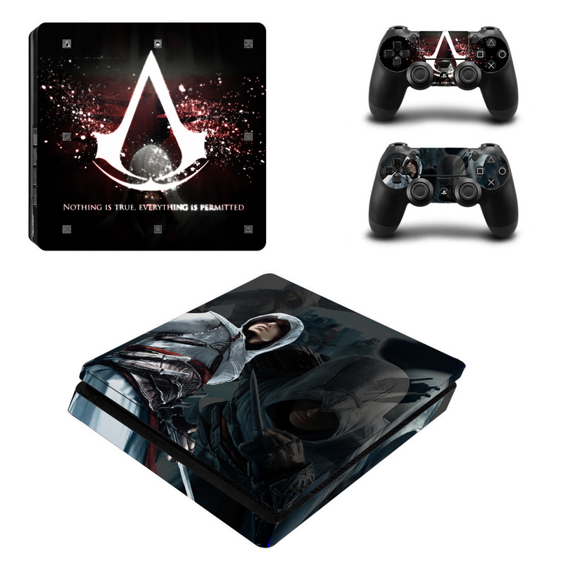 Assassin s Creed Vinyl Decal For PS4 Slim Skin Stickers Vinyl Wrap for Sony PlayStation 4
