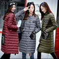 Thin down jacket for Pregnant Women long 90% White duck stand collar Pregnant women down jacket Maternity Clothes YL352