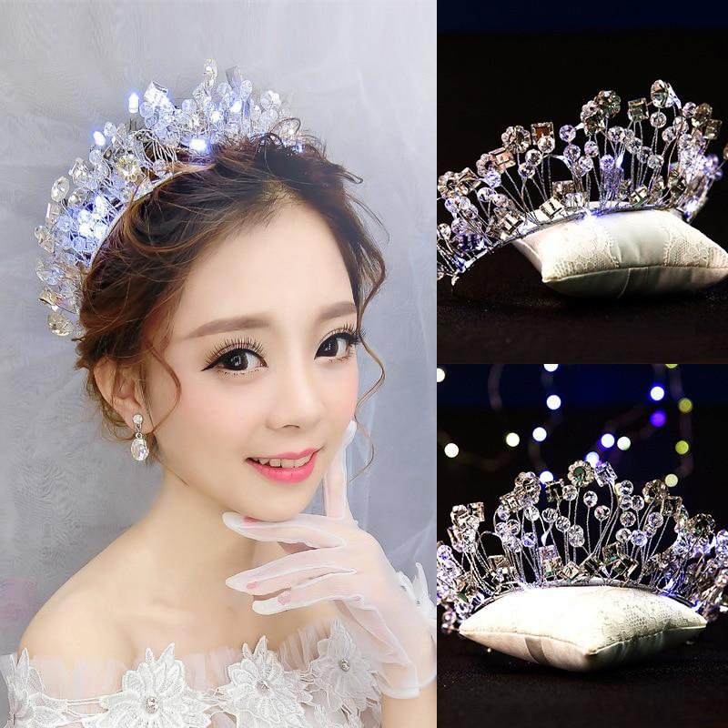 Wedding Hairstyle Korean: The Bride Crown Crystal Light Manual Wedding Hair