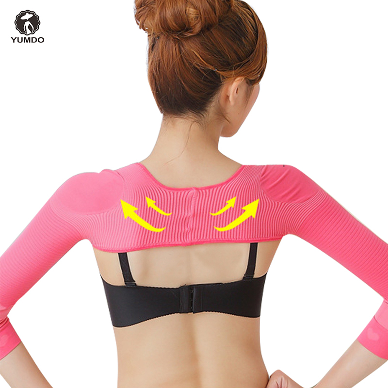 cd303a70d1e57 Yumdo Arms Shaper Slimming Control Sleeves Shapewear Womem Posture  Corrective Shoulder Support Belt Arms Slimmer Reduce