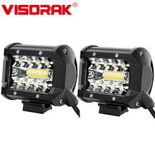 "VISORAK 4"" 60W LED Work Light Bar Motorcycle LED Light Bar For Offroad Jeep Pickup 4WD 4x4 ATV SUV Truck Off-road LED Head Light(China)"