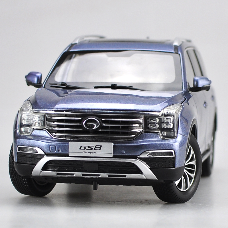 1:18 Diecast Model for China GAC Trumpchi GS8 Blue SUV Alloy Toy Car Collection Gifts зимняя шина nokian hakkapeliitta 8 suv 265 50 r20 111t