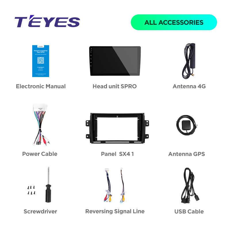 TEYES SPRO アンドロイド 7.1 車の dvd gps プレーヤーマルチメディアスズキ SX4 1 2006-2013 カー dvd ナビゲーションラジオビデオオーディオプレーヤー