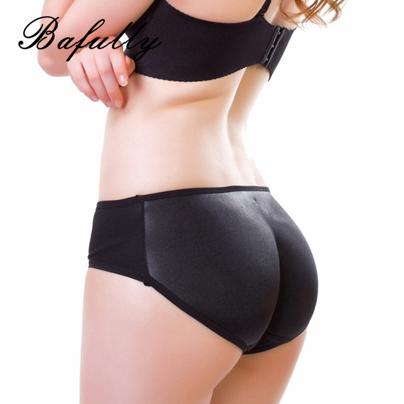 Home Women Sexy Panty Pad 4pcs Silicone Shapewear Bum Butt Hip Up Enhancer Underwear A Set Of 830g Silicone Abundant Buttocks Pants