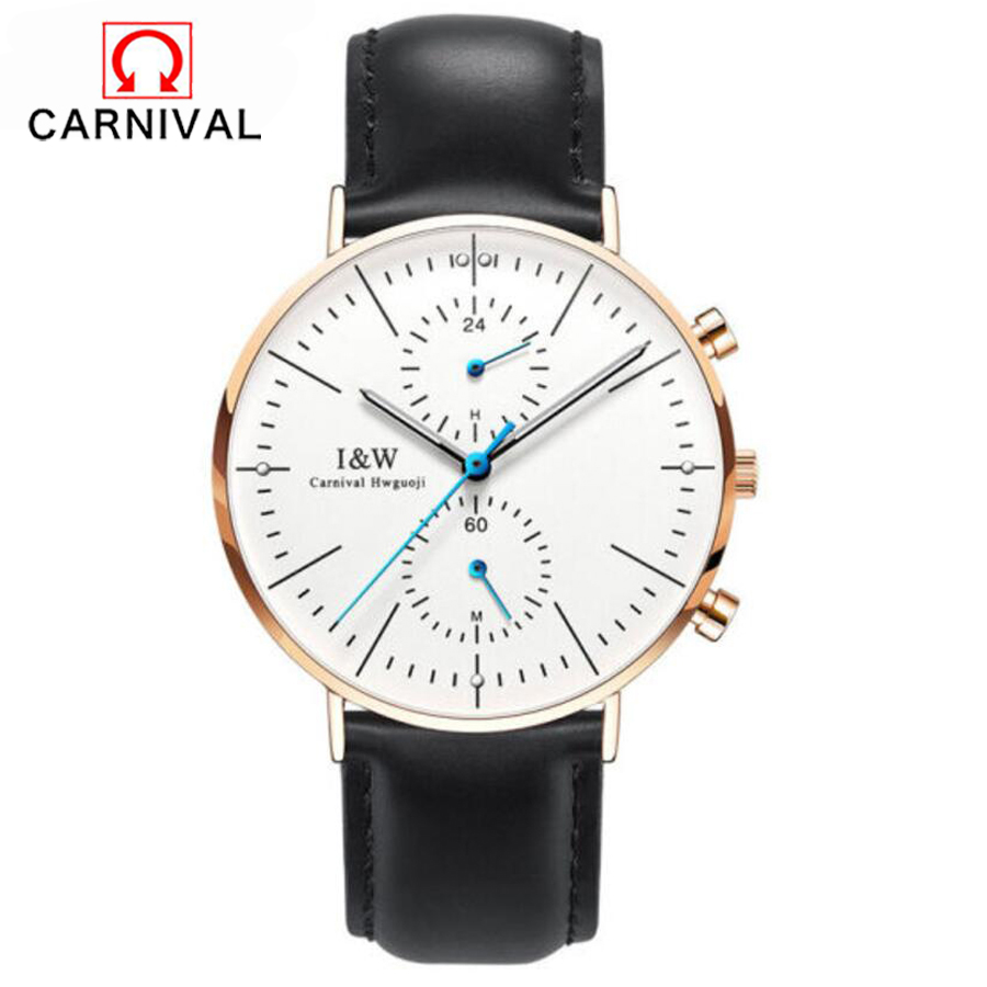 Multiple Time Zone Ultra Thin Simple Nordic Design Watch Men Sapphire Genuine Leather Waterproof Mens Watches Top Brand Luxury ultra thin watch male student korean version of the simple fashion trend fashion watch waterproof leather watch men s watch quar