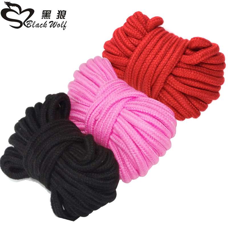 5 M Sex Slave Bondage Rope Soft Cotton Knitted BDSM Restraint Toys For Couple Women Man Exotic Roleplay