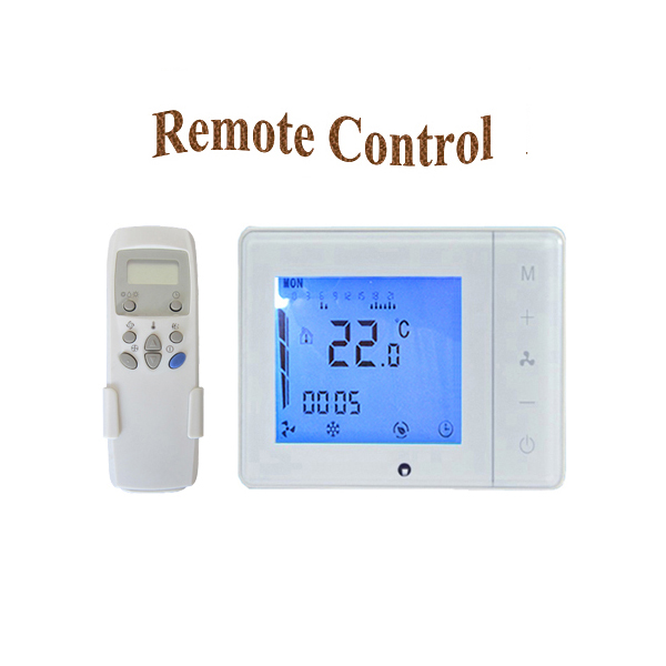 Programmable Central Air Conditioner Thermostat Fan Coil Units With Remote Control Temperature Controller AC100V 240V LCD