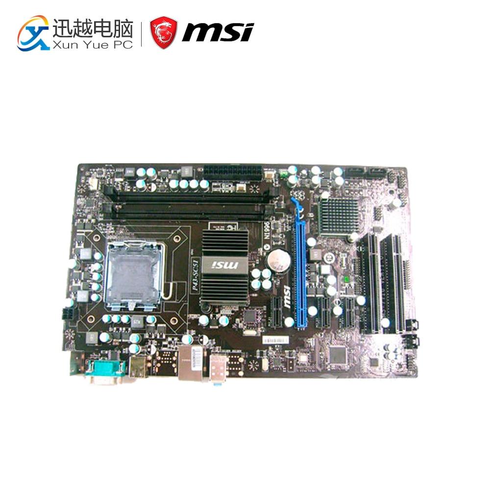 MSI P43-SC51 Desktop Motherboard P43 Socket LGA 775 DDR3 8G SATA2 USB2.0 ATX светильник настенный odeon light 2660 2w