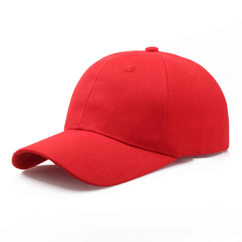 Wholesale Summer Women Men Pure Solid Color Sun Baseball Hat Adjustable Snapback Golf Ball Hip-Hop Baseball Cap