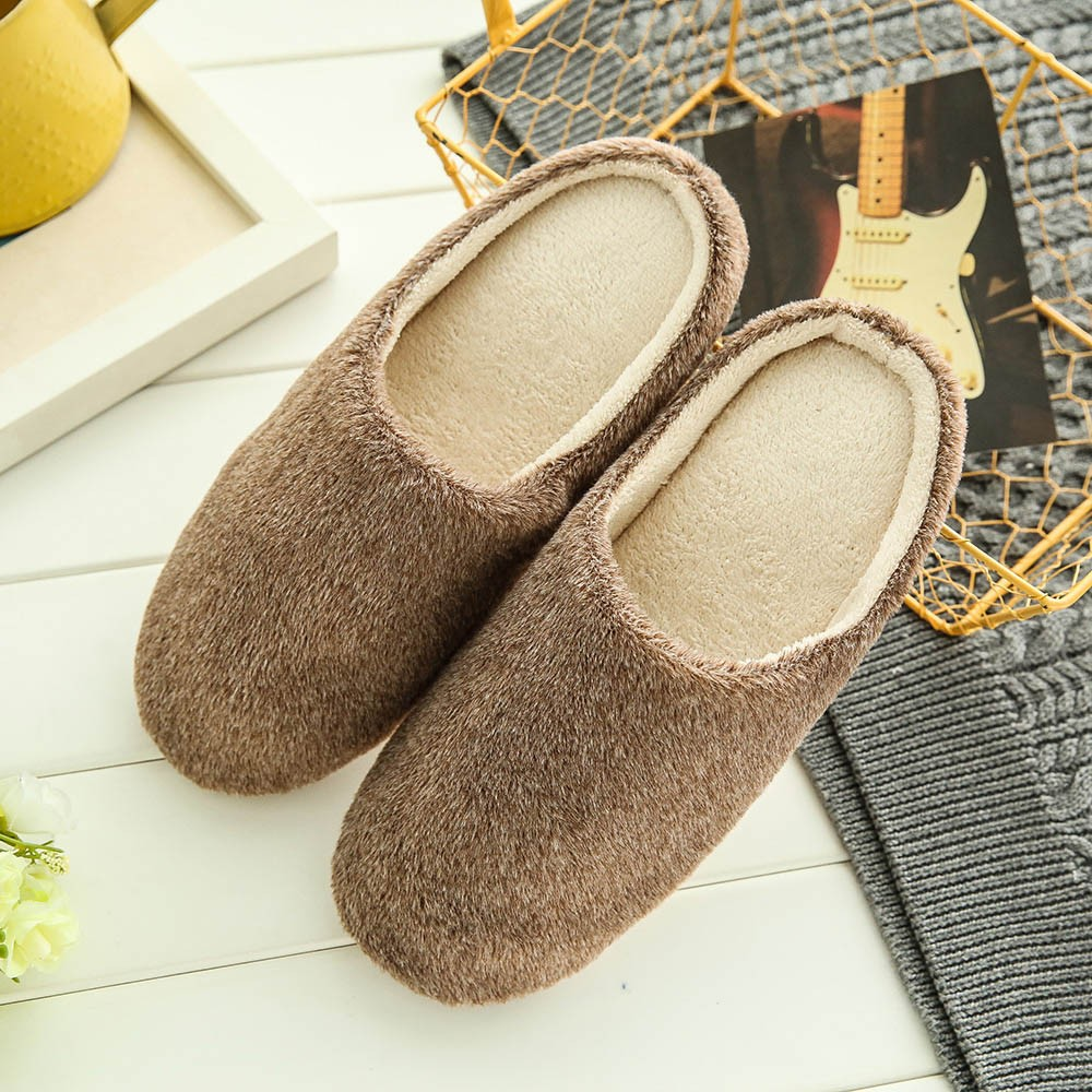 Soft Plush Home Slippers Men Indoor Cotton Shoes Big Size Winter Casual Sneakers For Man Floor Warm Furry Slipper  Nov21