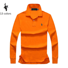 Digital Peacock  Polo Shirt Men spring and autumn Brand Mens Long Sleeve Casual Male polo Shirts