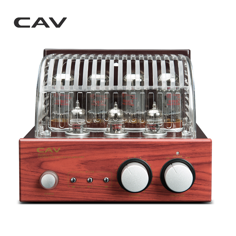 CAV T-33 HI-FI Tube Amplifier High Fidelity CD USB Bluetooth Wood HI-End Audio Home Use Classical Vintage Tube Amplifier hi fi 6f1 tube amplifier bluetooth 4 0 mini power amp u disk lossless decoding