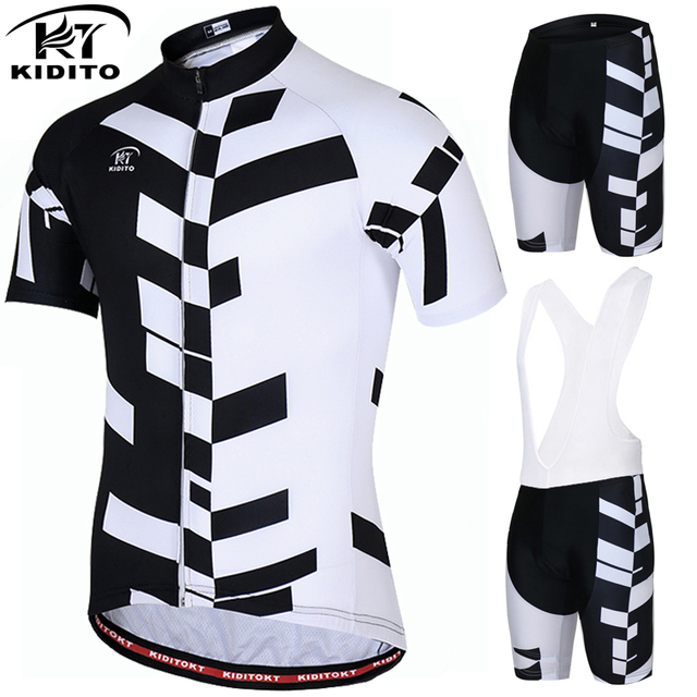 73daf4705 KIDITOKT Pro Quick-Dry Cycling Jersey Set Short Sleeve Cycling Bicycle  Clothing Suit Mountain Bike Sportswears Ropa Ciclismo