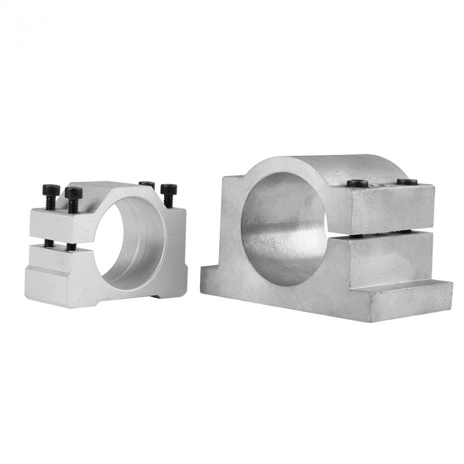 65mm Spindle Motor Mount Aluminum Bracket Clamp Holder 3 Screw For CNC Router