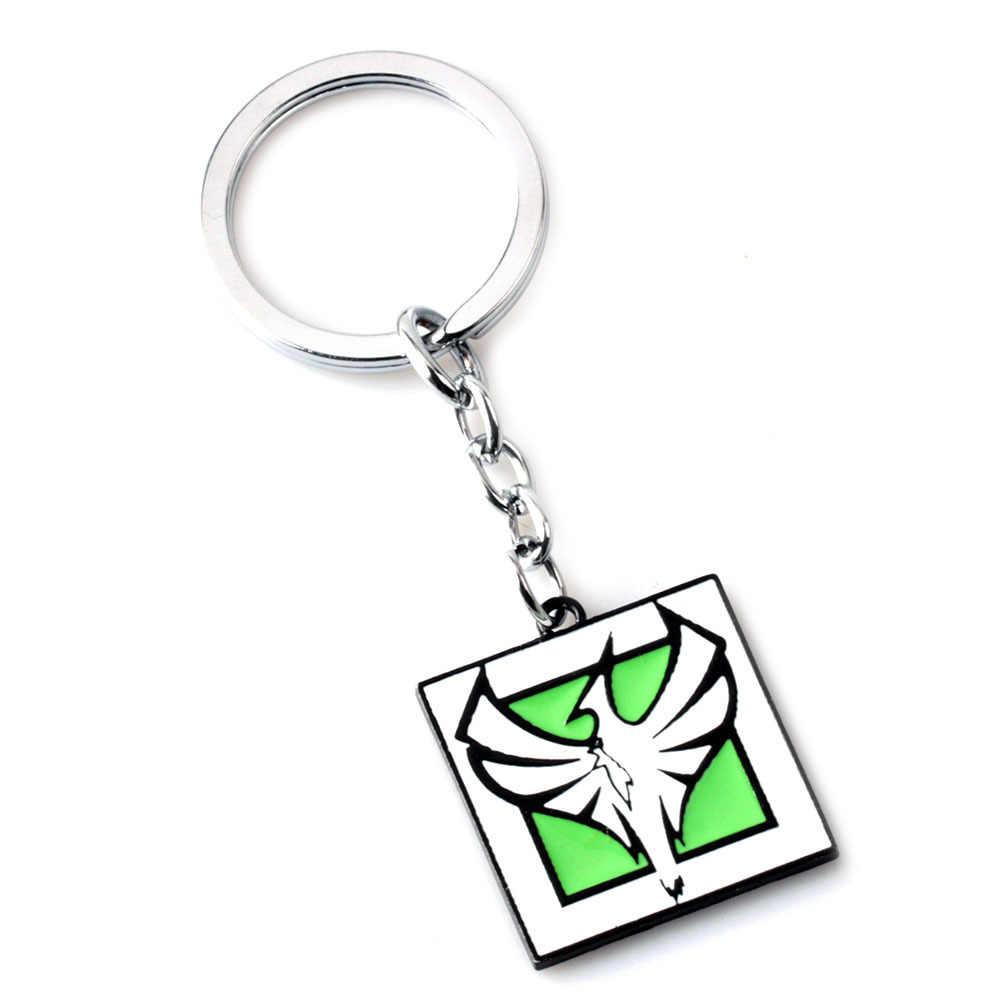 2018 חם משחק קשת שש מצור Keychain 20 סגנון גולגולת סגסוגת מתכת מפתח מחזיק עבור גברים נשים אוהדי מזכרות תכשיטים מתנות