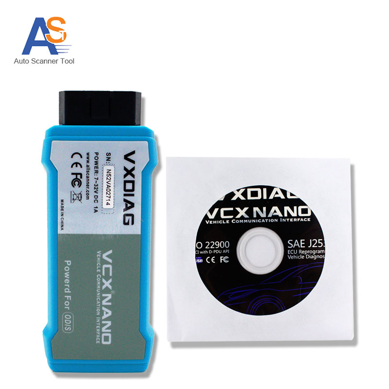 USB Version  VXDIAG VCX NANO Compatible with Software of ODIS Support UDS Protocols For Audi For Skoda  With  Multi languages