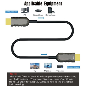 Image 3 - HDMI2.0 Optical Fiber HDMI Cable 4K 60Hz 18G HDR 4:4:4 10M 15M 20M 30M 50M 100M for HD TV Box LCD Projector Laptop PS4 Computer