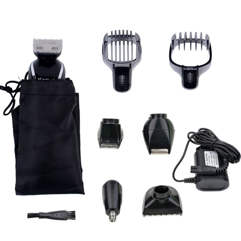 Kemei 5 in1 Rechargeable Waterproof beard Trimmer Hair Clipper Trimer Shaver Nose for Men Family Use