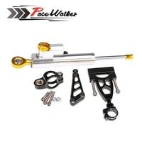 Motorcycle Aluminum CNC Steering Damper Complete Set For HONDA CB400 VTEC 1999 2012 W Bracket Kits