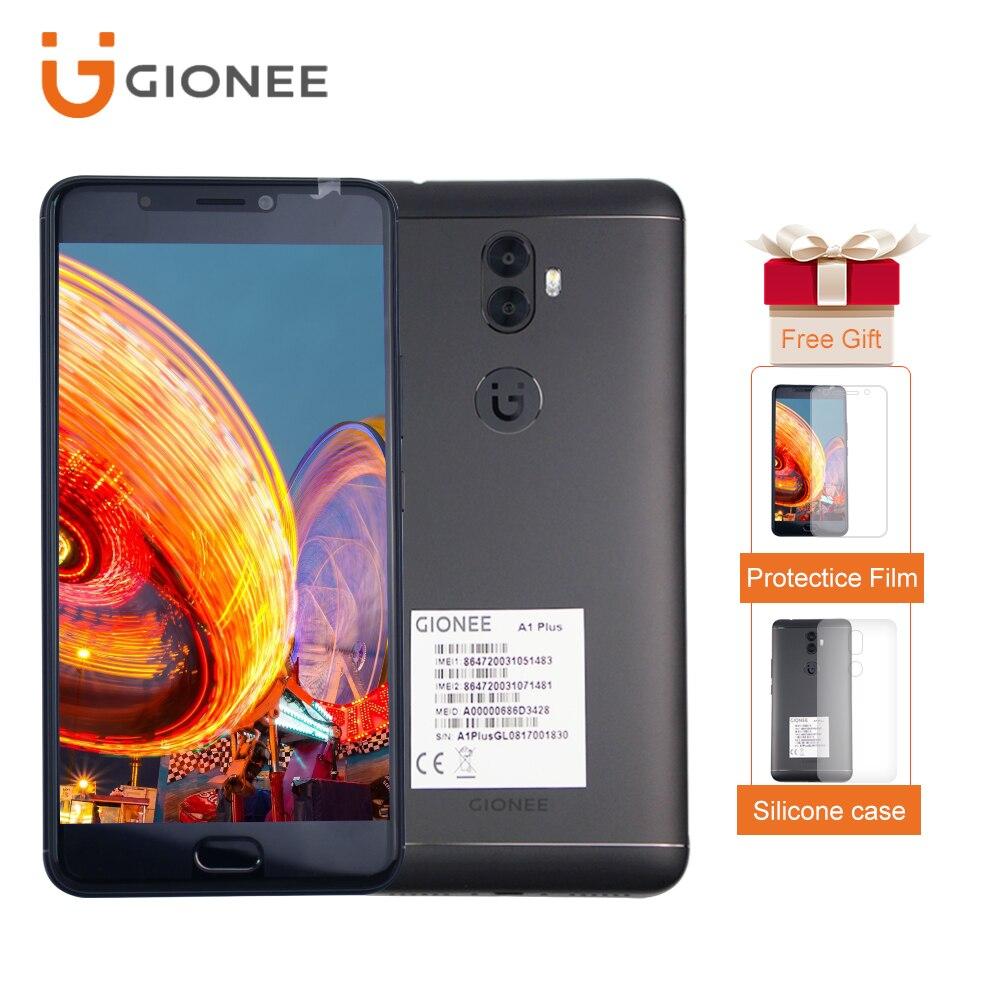 Mondial Version Gionee A1 Plus 4 GB RAM + 64 GB ROM 6.0 écran 4550 mAh MT6757CD Octa Core OTG 20MP Avant Caméra Double SIM Smartphone