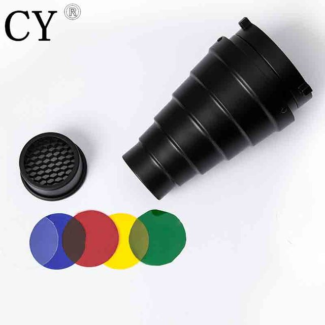 Lightupfoto Photo Studio Vedio Photography Accessories Snoot & Honeycomb For Bowens Mount Flash Strobe PSCB3 Free Shipping PSCB3